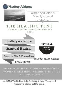 Eight Ash Green Healing Tent Revised